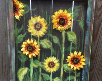 Dimensional sunflower art,Sunflowers