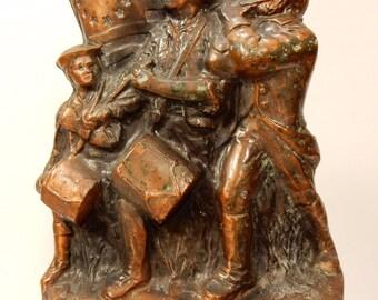 Vintage Copper Clad Bank Spirit 76 Banthrico Revolutionary Soldiers US Flag 1974