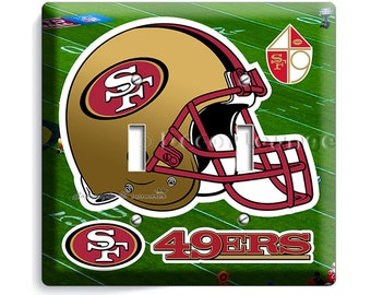 sf 49ers wall decor etsy. Black Bedroom Furniture Sets. Home Design Ideas