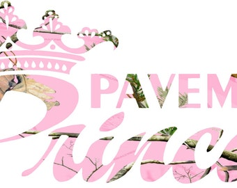 Pavement princess  Camo Sticker Decal