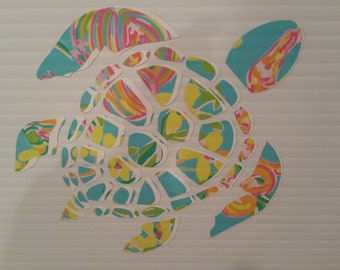 Tie dyed Turtle Sticker Decal
