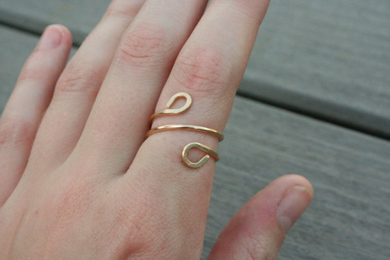 Double Twist Ring // 14K Gold Filled //