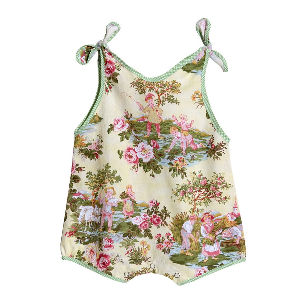 Baby girl romper cotton print fabric baby shower gift girl for Baby girl fabric
