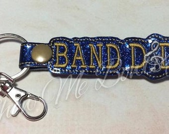 BAND DAD Key Fob/Zipper Pull design Instant Download