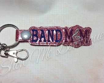 BAND MOM Key Fob/Zipper Pull design Instant Download