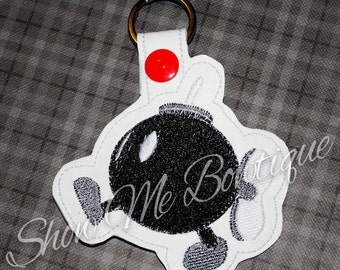 Bomb Key Fob/Zipper Pull design Instant Download