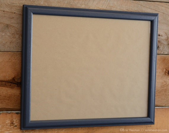 11x14 navy blue upcycled wood picture frame. Black Bedroom Furniture Sets. Home Design Ideas