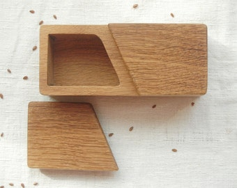 Wooden Spice Box ,Spice Holder Wood, Salt and Spice Box, Wood Box
