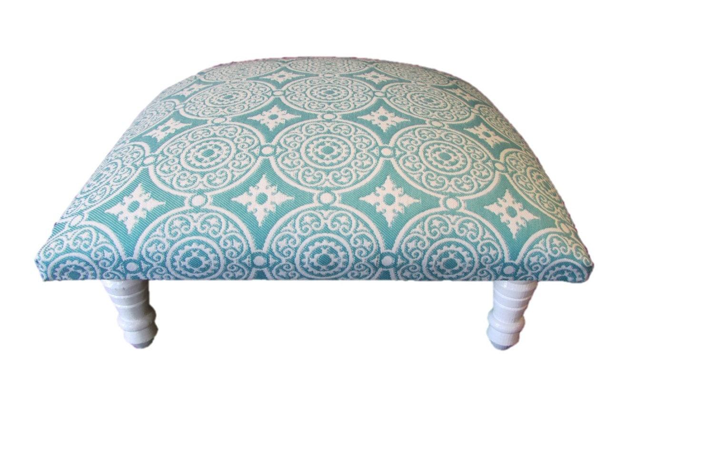 corona decor co outdoor turquoise medallion woven footstool corona decor co asianna french woven footstool