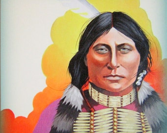 SPIRIT WARRIOR - Native American Portrait on Canvas