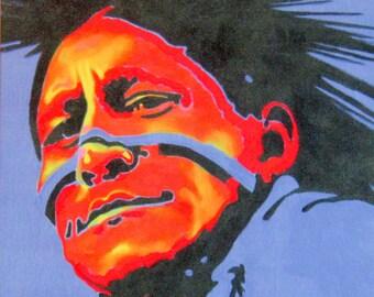 RAINMAKER - Native American Portrait on Canvas