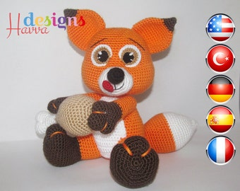 PATTERN - Hungry Little Fox (Amigurumi Crochet)