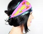 FABRIC WRAPS Pink Aztec Wrap (Elastic) - Buy 3 Get 1 FREE