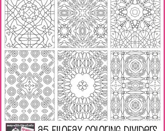 A5 filofax planner printable insert divider by for Binder coloring pages
