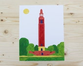 Paint By Number - 8x10 - Carillon Tower - Richmond, VA