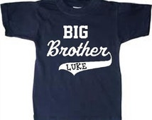 BIG BROTHER / varsity look / personalized with name kid's t-shirt kids / gift for New big brother / CUSTOM colors available, you choose