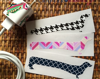 Print Dachshund iPhone/iPad Charger Wrap - The Original Doxie Charger Wrap