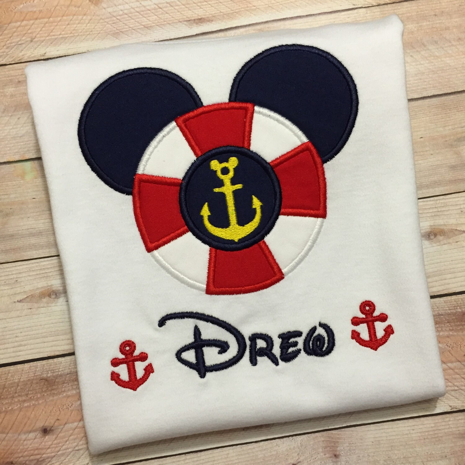 Embroidered Mickey Mouse Or Minnie Mouse Inspired Personalized