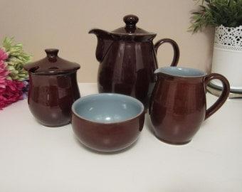 Brown Teapot Etsy