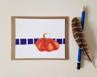 Pumpkin Card // Blank Card // Fall Card // Pumpkin Note Card // Greeting Card