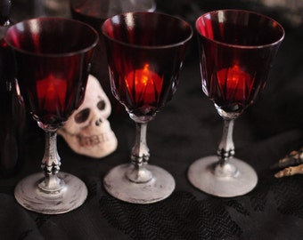 Vampire's Blood Goblet/Candleholder--Halloween Decor