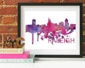 Raleigh Art, Raleigh Skyline, Raleigh map, Raleigh wall art, Raleigh map print