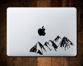 Mountain Range Decal, Macbook Decal, Mountain Car Decal, Laptop Decal, Laptop Stickers