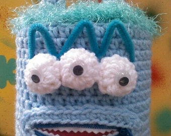 Mr.Blu, toilet paper cover,bathroom,monster,Halloween, kids