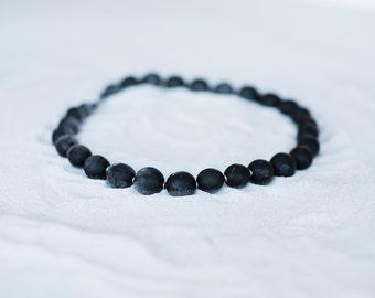 Bokeur necklace/Ebony wood/black/metal silver/recycled/handmade/africain design/Style SO Original