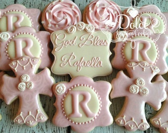 Pearls and Lace Baptism Christening Communion Confirmation Cookies