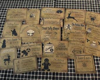 Christmas Food & Fun Prim Pantry Labels
