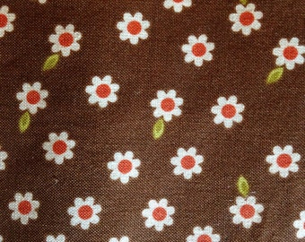 INDIAN SUMMER By Zoe Pearn - Fabric - Daisy in Brown - Daisies - Riley Blake - Quilting - Sewing - Home Decor - Girls - Floral