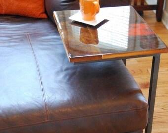 "Barnwood & Steel ""C"" Table (Free Shipping!)"