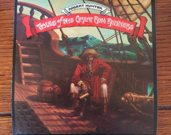1974 GRATEFUL DEAD Art Card- Robert Hunter- Tales of The Great Rum Runners
