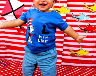 Dr.  Seuss Birthday shirt//Dr. Suess//Cat in the Hat