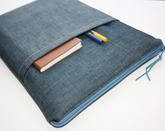 Jeans sleeve MacBook Air 13 sleeve with zipper, MacBook Air 13 Sleeve, MacBook Pro 13- MacBook Air 13 Cover, MacBook Pro 13case, Laptop bag