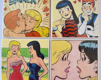 Ceramic Tile Coasters - Archie comic Collection
