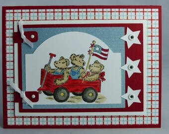 Stampin Up Handmade Greeting Card: Memorial Day, Veteran's Day, Patriotic,  Stars and Stripes, Military USA Soldier Troops Veteran Thank You