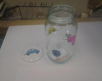 Hand painted Volkswagen bug jar
