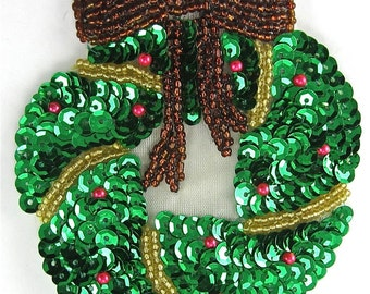 Christmas Wreath with Bronze Bow - JJX2848-box3