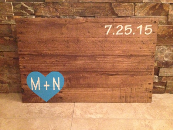 Rustic pallet wood wedding guestbook rustic alternative wedding wooden