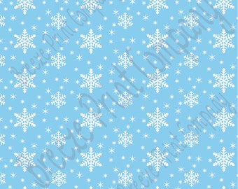 Light blue snowflake craft  vinyl sheet - HTV or Adhesive Vinyl -  winter pattern holiday HTV1307