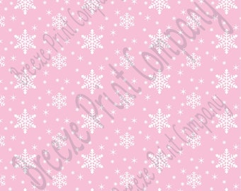 Light pink snowflake craft  vinyl sheet - HTV or Adhesive Vinyl -  winter pattern holiday HTV1308