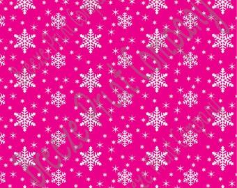 Magenta snowflake craft  vinyl sheet - HTV or Adhesive Vinyl -  winter pattern holiday HTV1310