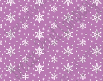 Orchid snowflake craft  vinyl sheet - HTV or Adhesive Vinyl -  winter pattern holiday HTV1314