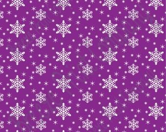 Purple snowflake craft  vinyl sheet - HTV or Adhesive Vinyl -  winter pattern holiday HTV1315