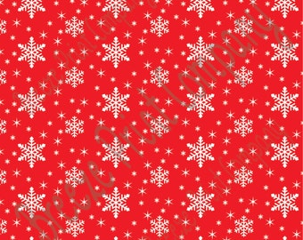Red snowflake craft  vinyl sheet - HTV or Adhesive Vinyl -  winter pattern holiday Christmas HTV1316