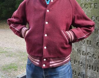 Reversible 1970s Baseball Jacket or Bomber Jacket