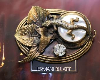 Stupendous Ermani Bulatti Vintage Lizard Brooch