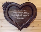 Heart Shaped Wood Carving...